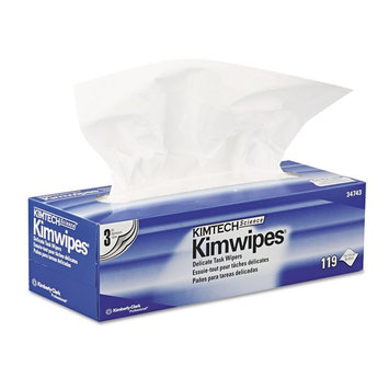 Kimberly Clark Safety 34743 White Kimwipes Delicate Task Wipers, 3-ply