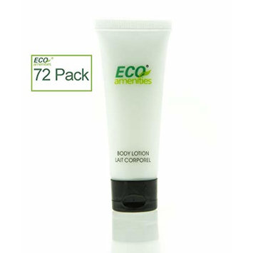 ECO AMENITIES Transparent Tube Flip Cap Individually Wrapped 30ml Body Lotion, 72 Tubes per Case