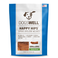 Dogswell Happy Hips Grillers Chicken Dog Treats, 15 Oz