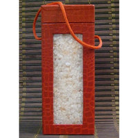 Black Tai Exotic Himalayan Salt: RED Faux Crocodile Container- Medium Grade King (3 lbs)