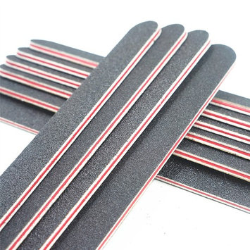 Nail Files Black Straight Nail file Double Sided Emery Board Professional Nail Tools