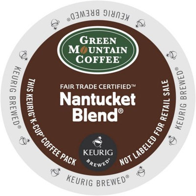 Green Mountain Nantucket Blend Fair Trade Select Coffee, K-Cup Portion Pack for Keurig Brewers