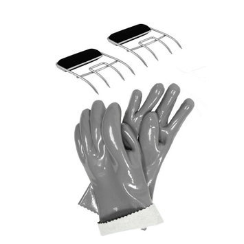 Steven Raichlenâ S Best Of Barbecue Charcoal Companion® Insulated Food Gloves and Meat Claws Set