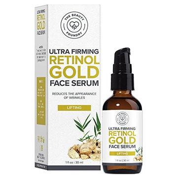 Beauty Foundry Ultra Firming, Lifting Retinol Gold Facial Serum 1oz / 30ml