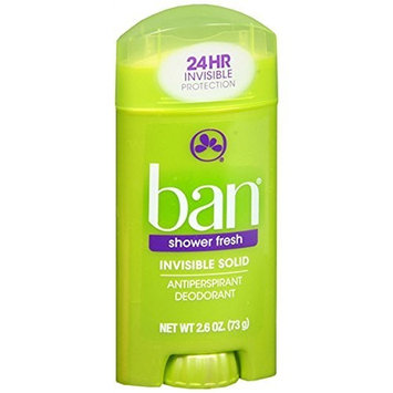 Ban Deodorant 2.6oz Invisible Solid Unscented by Ban