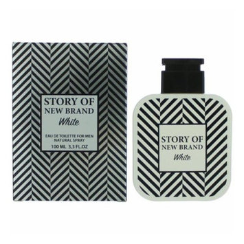 Story of NB White by New Brand, 3.3 oz Eau De Toilette Spray for Men
