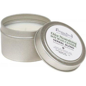 Aroma Paws 417 4 OZ. ODOR NEUTRALIZING CANDLE IN TIN-HERBAL
