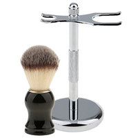 Dovewill Men's Shaving Brush With Stainless Steel Shaver Display Holder Stand Rack Storage