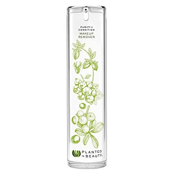 Planted In Beauty Certified Organic Makeup Remover Oil- Purifies and Conditions Skin, 120 ml