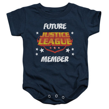 DC Comics Justic League Of America Future Member Logo Baby Infant Snapsuit
