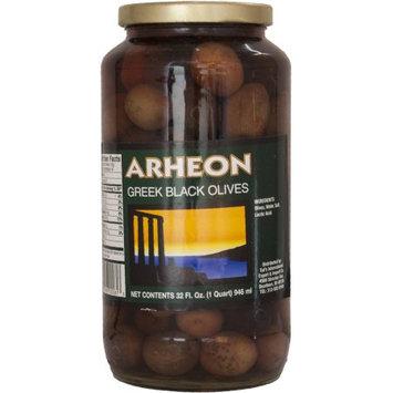 Tut's International Export & Import Co Arheon Greek Black Olives, 32 fl oz