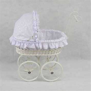 Regal Doll Carriages P489A Elizabeth Wicker Doll Carriage Buggy Stroller Pram