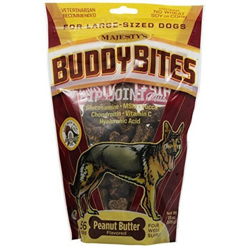 Majesty's Buddy Bites Hip & Joint supplement for Medium/Large Dogs - 56 count bag