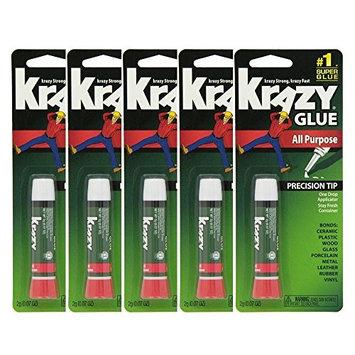Lot Of 5 Elmers Krazy Glue Original Crazy Super Glue All Purpose Instant Repair