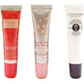 L'Occitane Kissable Lips Invigorating Scents of Rose & Cherry Blossom with Shea Set
