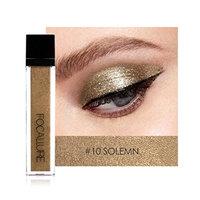 FOCALLURE 10 Color Glitter Eyeshadow Palette Shimmer Matte Shiny Waterproof Eyeliner Liquid Smoky Eye Shadow