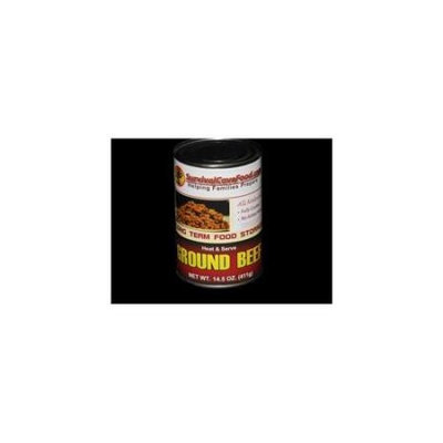 Survival Cave Food Canned Ground Beef, 12 - Pk. 14 1/2 - oz. cans