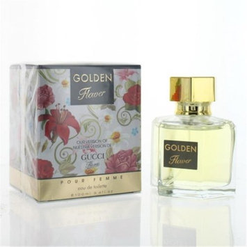Eurolux ZZWEFGOLDENFLOWER34T Golden Flower By Eau De Toilette Spray New in Box for Women 3.4 oz.