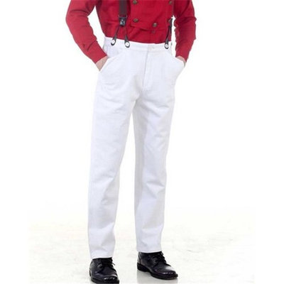 The Pirate Dressing C1330 Steampunk Classic Pants, White - Small