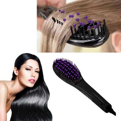 Z-Comfort Extreme LED 450 Degree Straightening Detangling Hair Brush Red