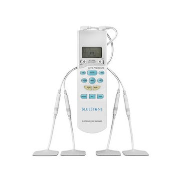 Trademark Global Llc Bluestone TENS Unit Handheld Electronic Pulse Massager with 8 Pads