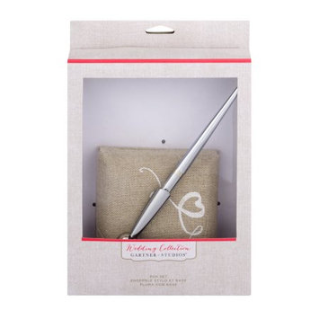 Gartner Studios Script Love Linen Pen Holder and Pen