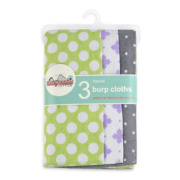 Coney Island Cotton | Flannel Burp Cloths For Babies, 100% Cotton | 3 Pack Baby Burp Wipe | Soft, Reusable, Durable | Modern, Cute Unisex Design For Boys And Girls