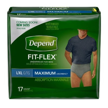 Depend® Maximum Absorbency Underwear for Men - L/XL (17 Count)