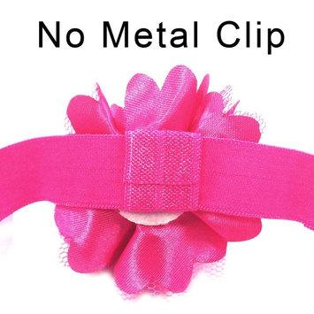 Wrapables® Set of 12 Assorted Mini Satin Mesh Flower Headbands