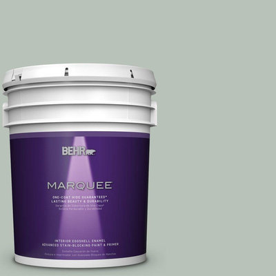 BEHR MARQUEE 5 gal. #MQ6-18 Recycled Glass One-Coat Hide Eggshell Interior Paint