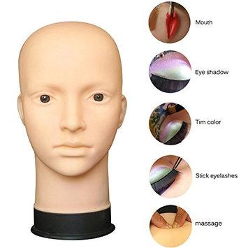 Lookatool Mannequin Flat Head Practice Make Up Massage Training Model Eyelash Extensions