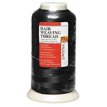 Donna Waterproof Professional Hair Weaving Thread Black 875 Yards