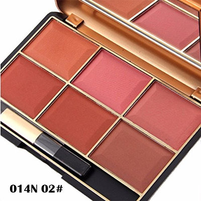 Eyeshadow Palette,Fenleo 6 Color Professionl Makeup Eyeshadow Camouflage Facial Concealer Blush