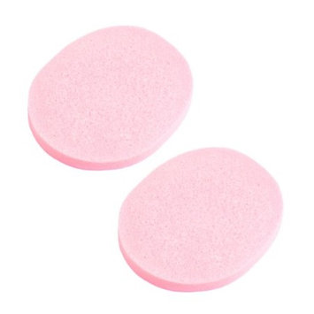 uxcell Sponge Cosmetic Makeup Oval Washing Pad Cleansing Facial Cleaning 2 Pcs Pink