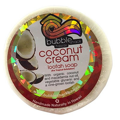 Bubble Shack Hawaii Coconut Mac Oil Loofah Soap