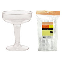 Hanna K Signature 2185121 Heavyweight Plastic 4 oz Champagne Cup - 2 Piece & Pack of 25