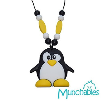 Sensory Oral Motor Aide Chewelry Necklace - Chewy Jewelry for Sensory-Focused Kids with Autism or Special Needs - Calms Kids and Reduces Biting/Chewing - Penguin Pendant