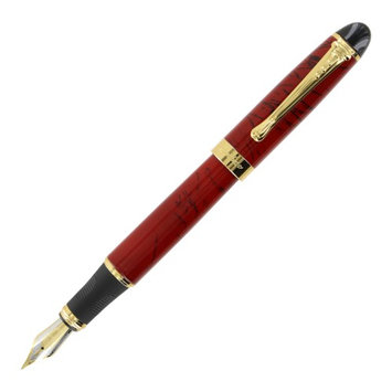 JinHao X450 Red with Black Line GT Fountain Pen - Medium