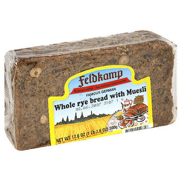 Delba Famous German Whole Rye Bread with Muesli, 16.75 Ounce (Pack of 12)