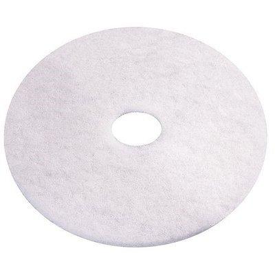 TOUGH GUY 6YAA8 Recycled Polishing Pad,13 In, White, PK5
