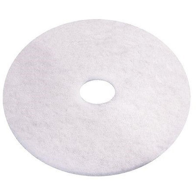 TOUGH GUY 6YAA7 Recycled Polishing Pad,12 In, White, PK5