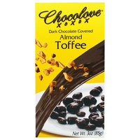 Chocolove, Dark Chocolate Covered Almond Toffee, 3 oz(pack of 3)