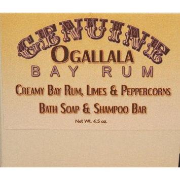 Two (2) Genuine Ogallala Bay Rum, Limes & Peppercorns Bath Soap/Shampoo Bar– 4.5 oz each