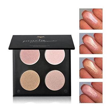 Eye Shadow HP95(TM) Colors 4 Charming Retro Smoky Matte Powder Eye Shadow Makeup Palette (B)
