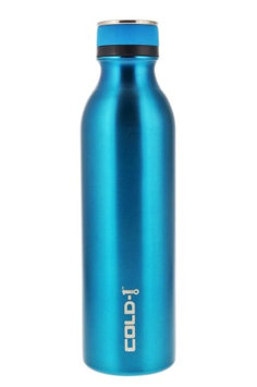 reduce COLD-1 Stainless Steel Vacuum Insulated Hydro Pro Bottle with Nonslip Rubber Base, 28oz - Tasteless and Odorless (Aqua)