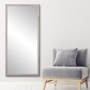 BrandtWorks Farmhouse Gray and White Floor Mirror