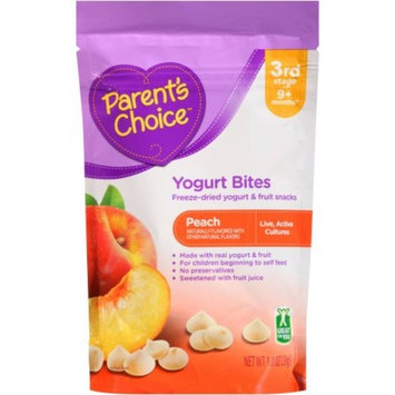 Parent's Choice Peach Yogurt Bites Stage 3 Baby Food, 1 oz