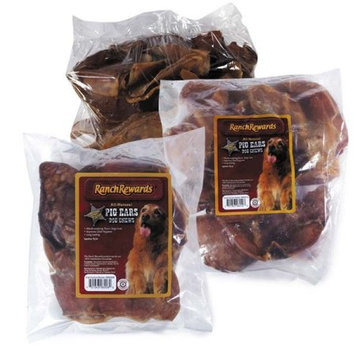 Petedge RR060 50 Ranch Rewards Smoked Pig Ears 50 Count Bulk Box