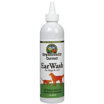 Organically Correct Dog and Cat Ear Cleaner, 8-Ounce
