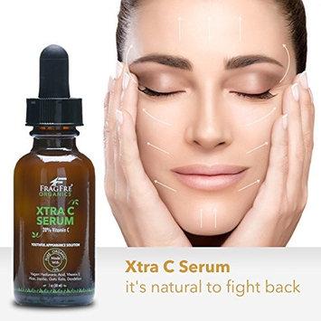 FRAGFRE Organic Vitamin C Serum 20%: with Vegan Hyaluronic Acid, Vitamin E, Organic Aloe & Jojoba - Anti Wrinkle Anti Aging Vitamin C Facial Serum - 1 oz - Youthful Appearance Solution